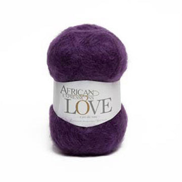 Aubergine Purple Mohair Yarn