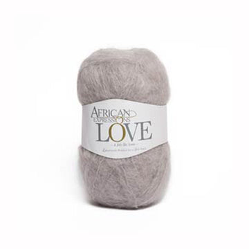 Silver Grey Mohair Yarn