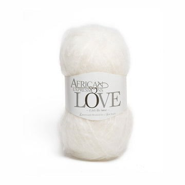 Snow white Mohair Yarn