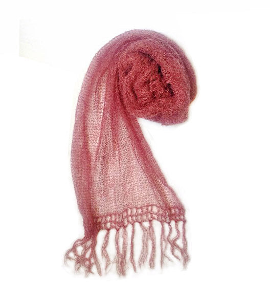 Extra Fine Mohair Scarf | Dusty Pink