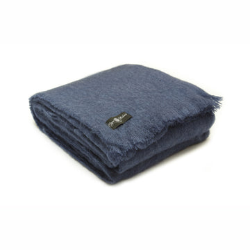 Midnight Blue Mohair Blanket