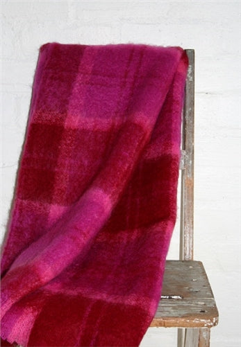 Spring Plaid Mohair Blanket