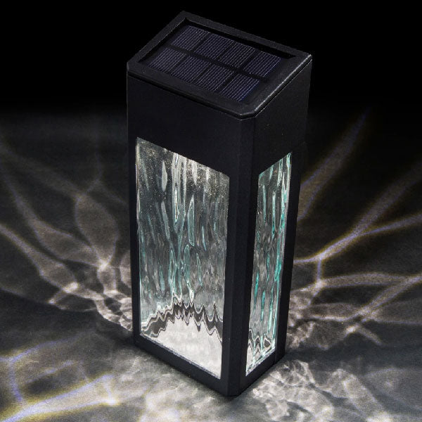 Black Aluminum Lancaster Solar Deck and Wall Light