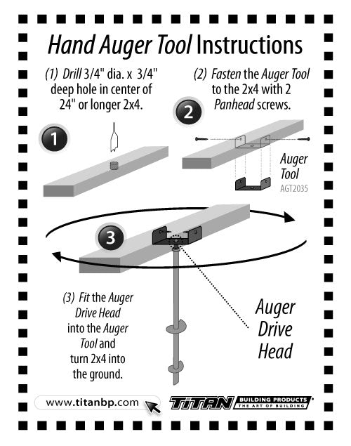 Hand Auger Tool Instructions