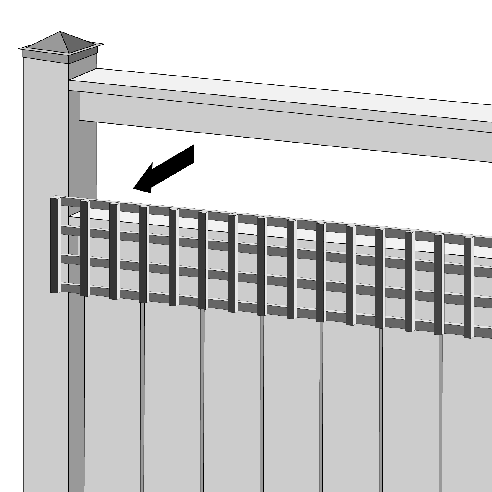 Fence Toppers Are Perfect For Updating a Worn Out Fence