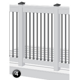 How to renovate the old wood railings - step 4