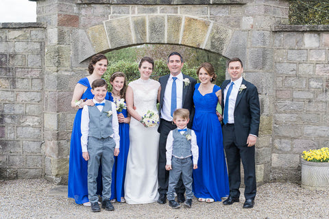 Bright blue wedding colour scheme