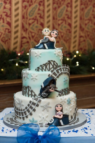 Theme park wedding cake