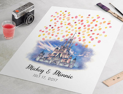 Disney wedding guest book alternative