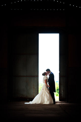 Rural wedding photograph