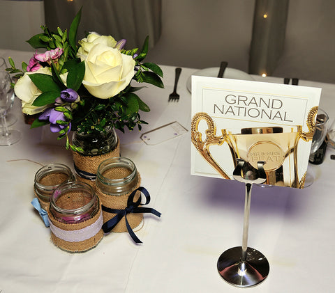 Grand National Wedding Table Name / Number Card
