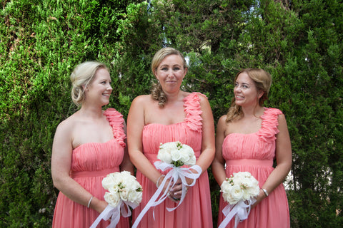 Bridesmaid dresses Debut Debenhams peach