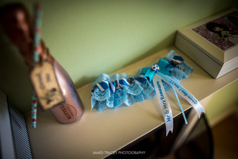 Manchester City wedding garter