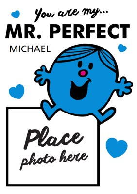 Mr Perfect Mr Men Valentine's Day Card