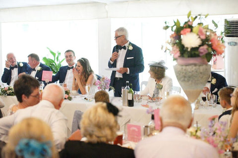 Wedding speeches at Moxhull Hall