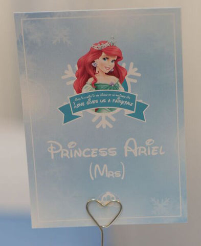 Princess Ariel Disney Wedding Table Name Card