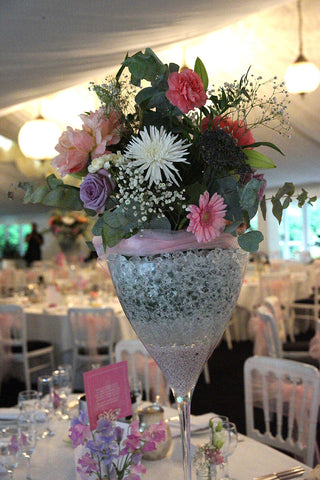 Summer wedding table centre