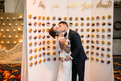 Wedding cake doughnut wall