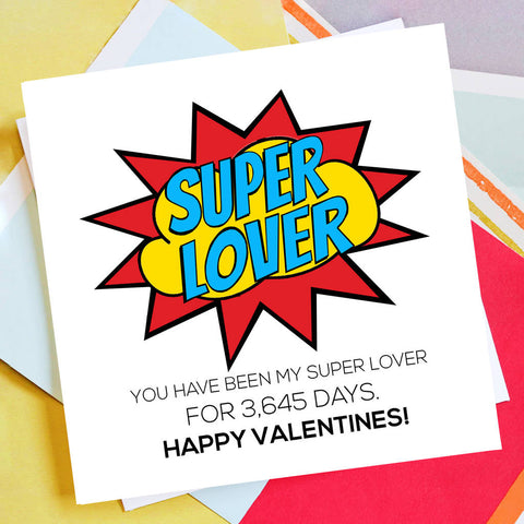 Personalised Super Lover Valentine's Day Card