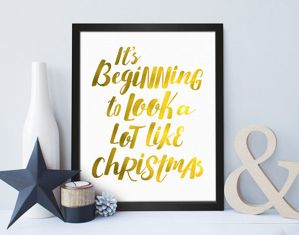 'A Lot Like Christmas' Christmas Print