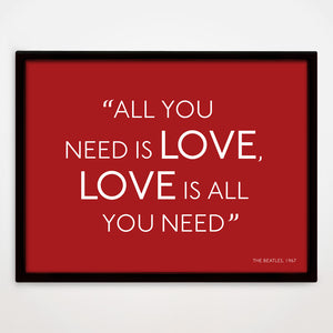 All You Need Is Love print in Cupid