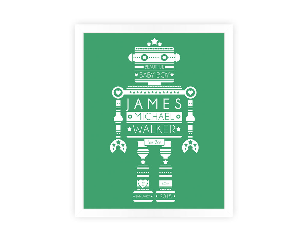 PERSONALISED TECHNOBOT PRINT