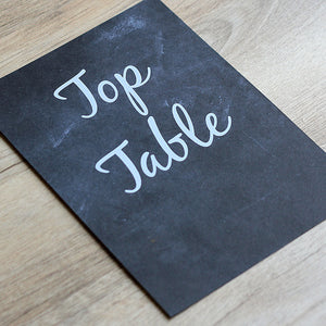 Chalkboard Vintage Table Name Card