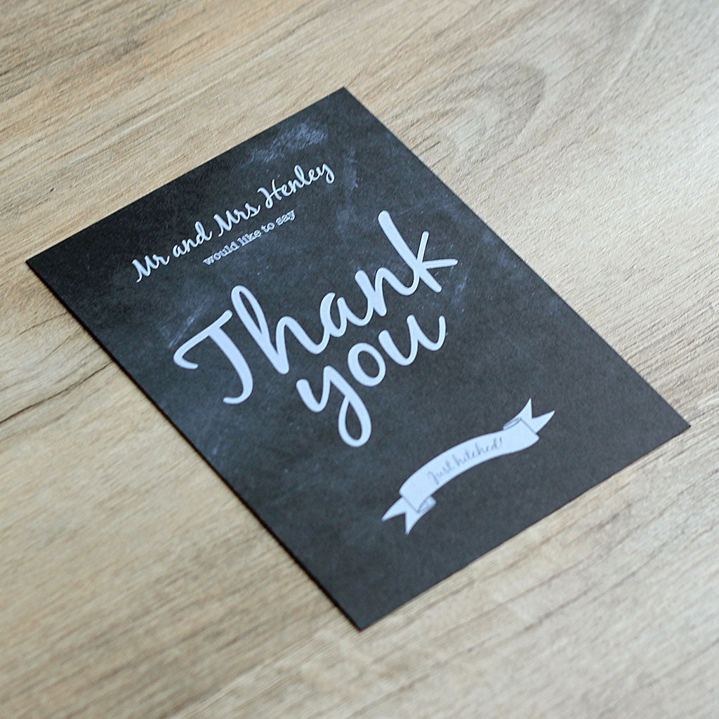 Chalkboard Vintage Thank You Card