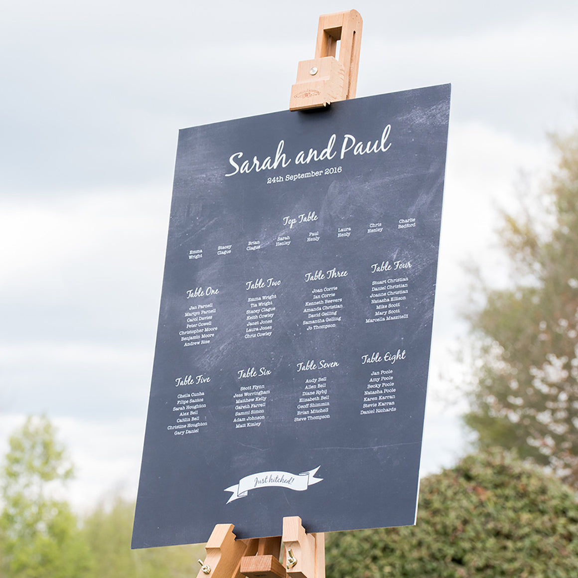 Chalkboard Vintage Wedding Table Plan