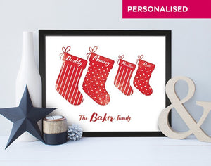 Personalised Christmas Stockings Print