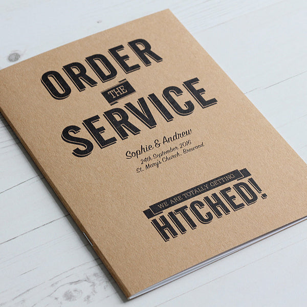 Classic Vintage Order of Service