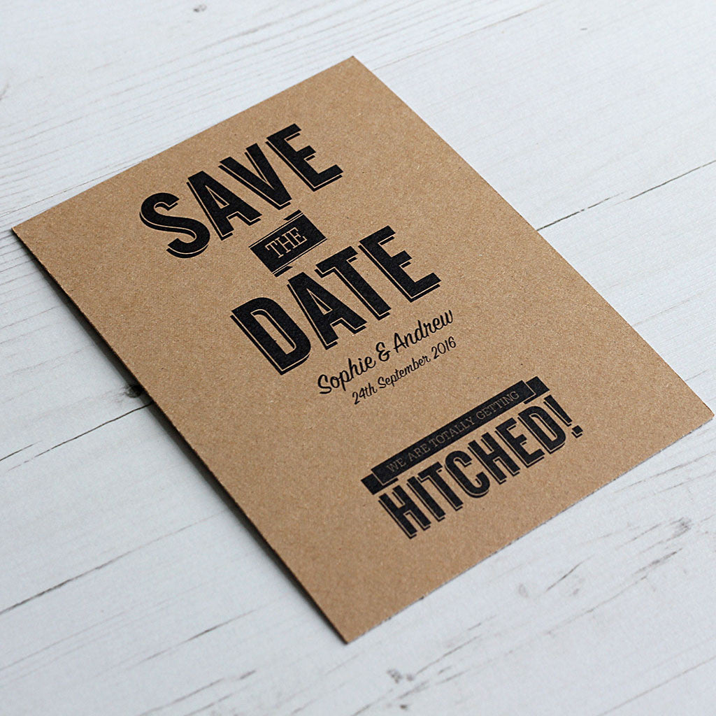 Classic Vintage Save the Date Card