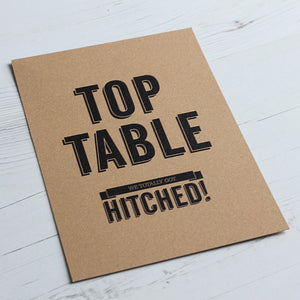 Classic Vintage Table Name Card