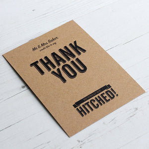 Classic Vintage Thank You Card