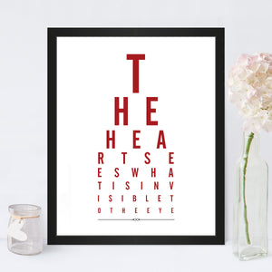 The Heart Sees Eye Chart Print in Cupid