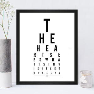The Heart Sees Eye Chart Print in Traditional