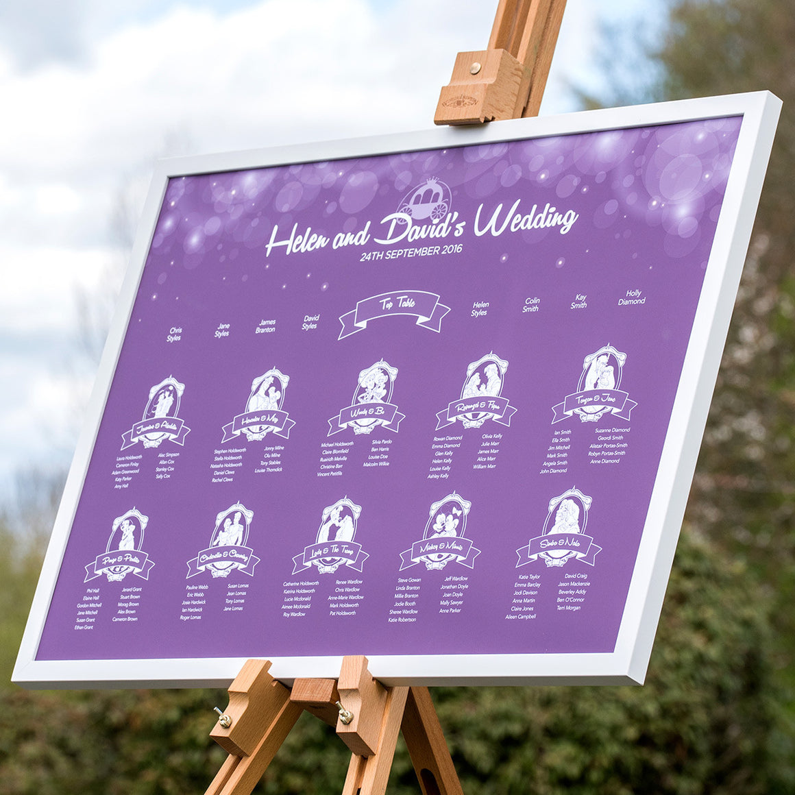 Disney Fairytale Wedding Table Plan