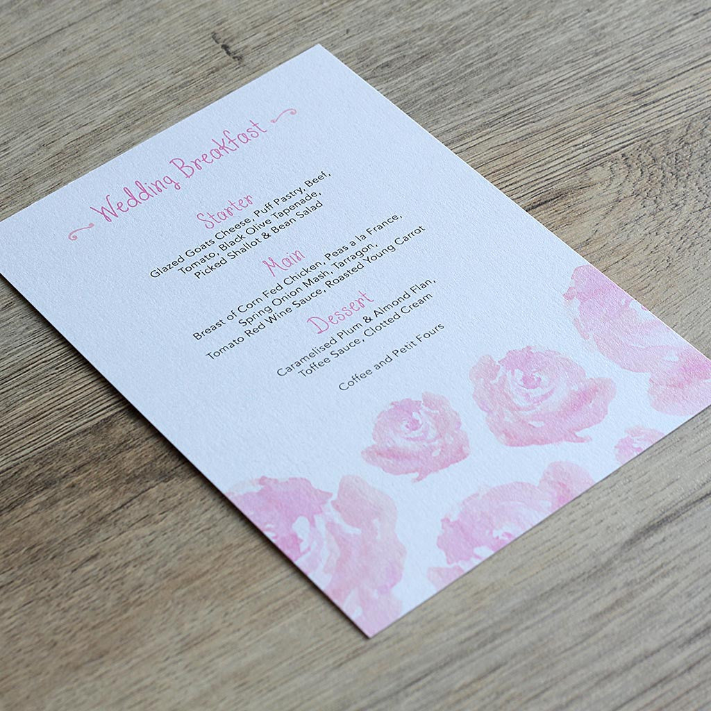 Elegant Floral Menu Card