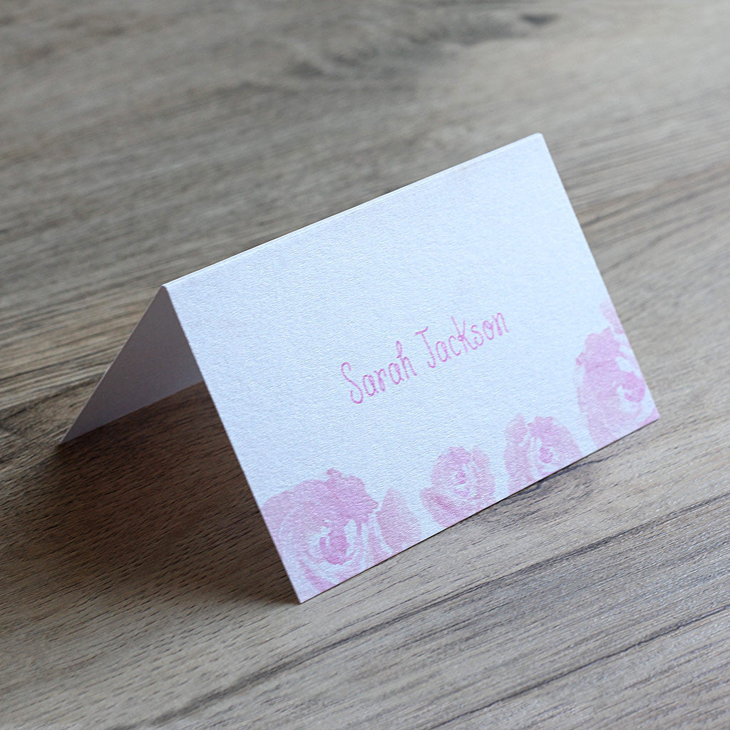 Elegant Floral Place Card