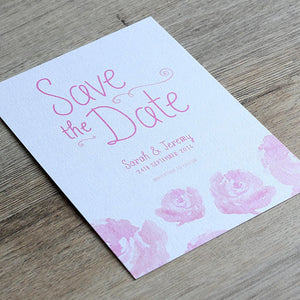 Elegant Floral Save the Date Card
