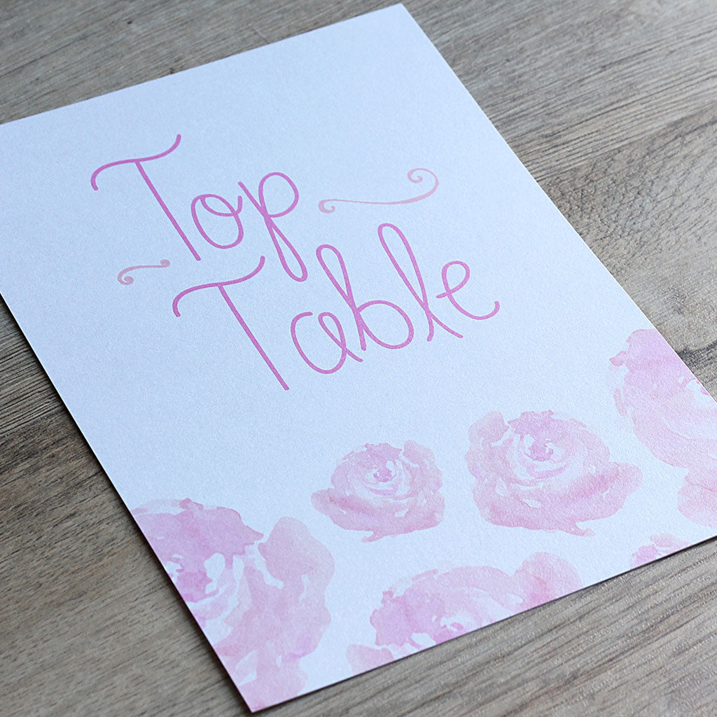 Elegant Floral Table Name Card