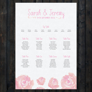 Elegant Floral Table Plan