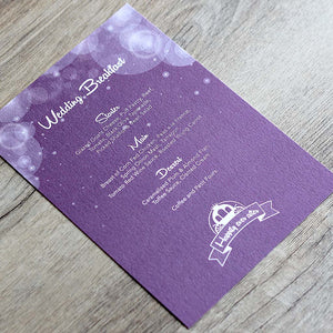 Disney Fairytale Menu Card
