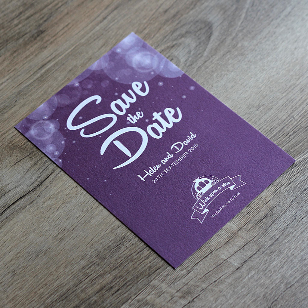 Disney Fairytale Save the Date Card
