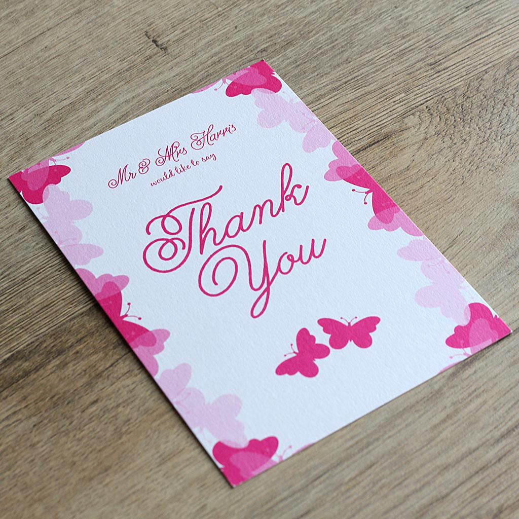 Graceful Butterfly Thank You Card