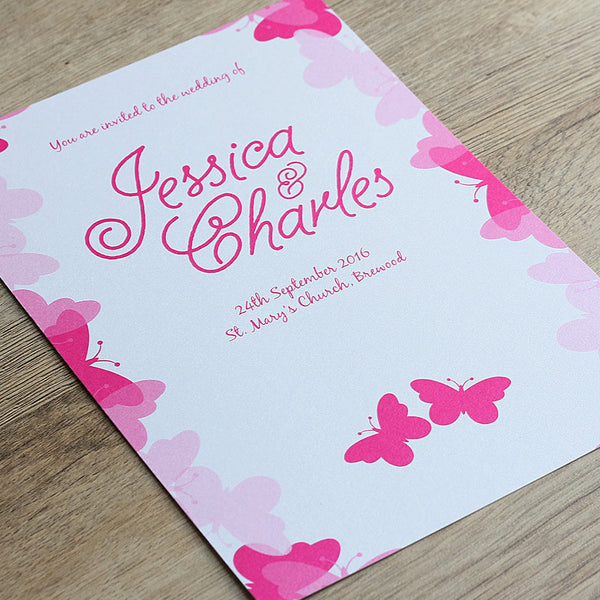 Graceful Butterfly Wedding Invitation