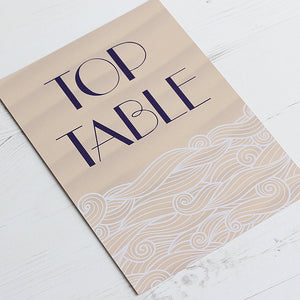 Life's a Beach Table Name Card
