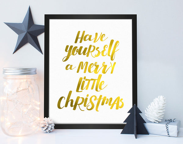 'Merry Little Christmas' Christmas Print