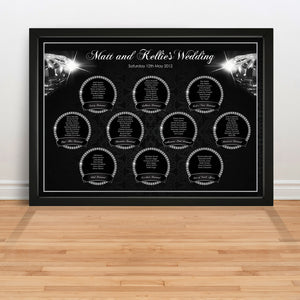 Diamonds are Forever Wedding Table Plan