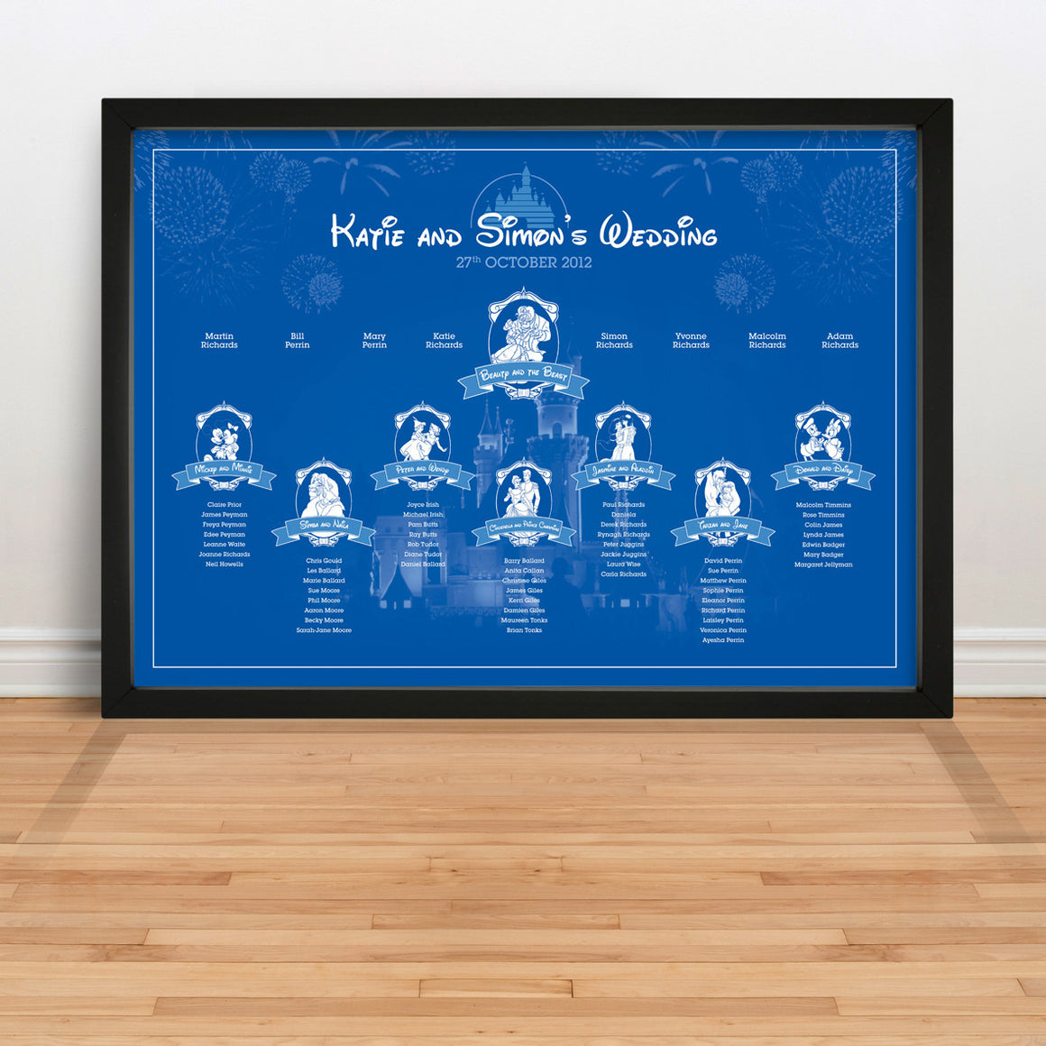 Disney wedding table plan